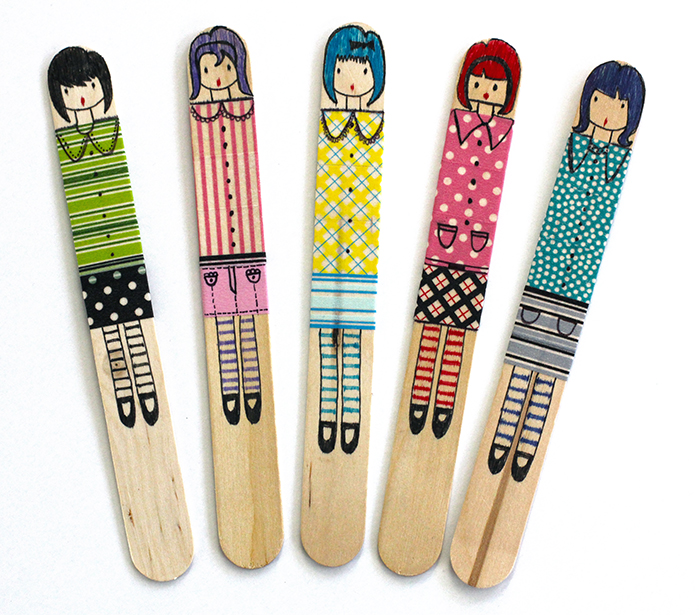 craft stick dolls dabbles amp babbles