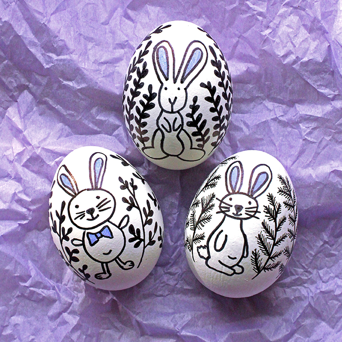 Doodled Easter Eggs