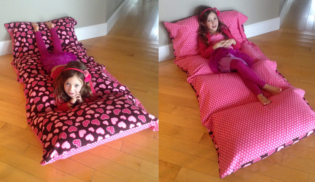 Cozy flannel pillow bed