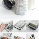 Newspaper plant pots.