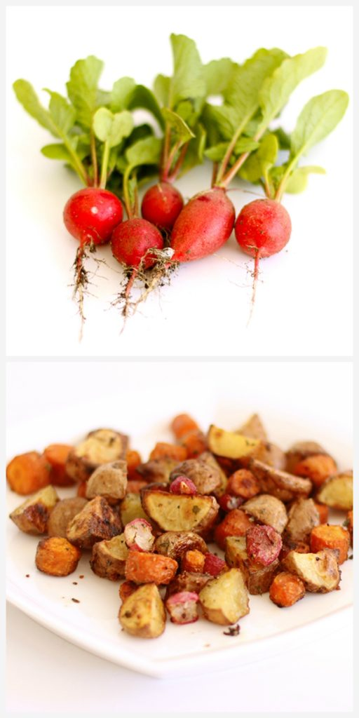 Roasted Radishes, Carrots and Potatoes