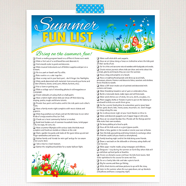 50 summer activities to keep kids busy and having fun all summer long.