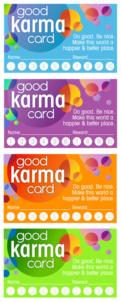 Print out these cards for all the good deeds your children do.