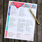 Master meal planning list printable