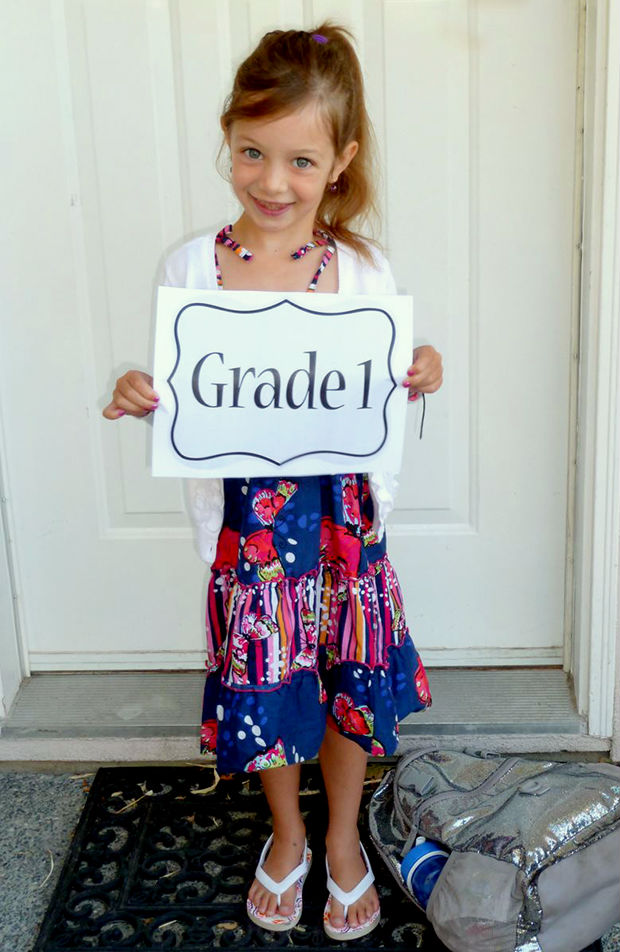 Printable first day of school sign.