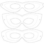 Printable template - 3 mask designs.