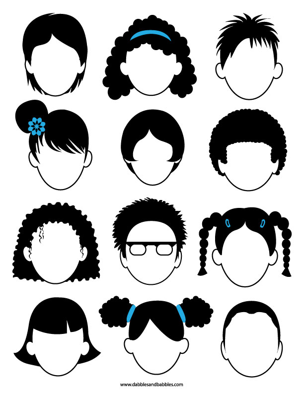 Blank Faces Coloring Page 2.0 - Dabbles & Babbles