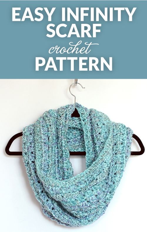 Whip up this beautiful and easy to crochet infinity scarf in a day or two. This crocheted infinity scarf is a great pattern for beginners too.