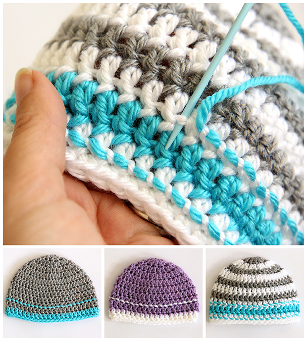 Crochet Basic Beanie Hat Pattern : Crochet Caps for a Cause Pattern - Dabbles & Babbles