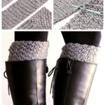 Easy pattern to make your own crochet your own boot toppers.