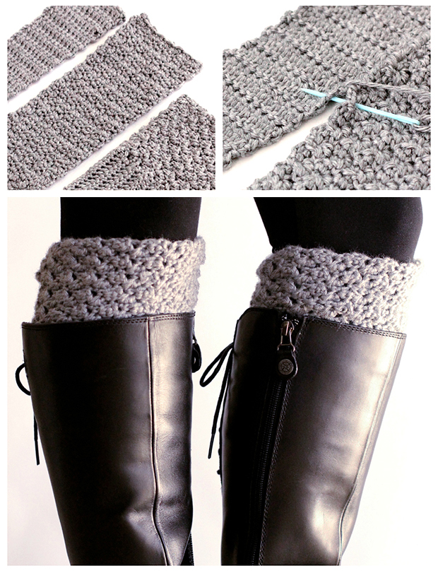 Easy Reversible Crochet Boot Cuffs - Dabbles & Babbles