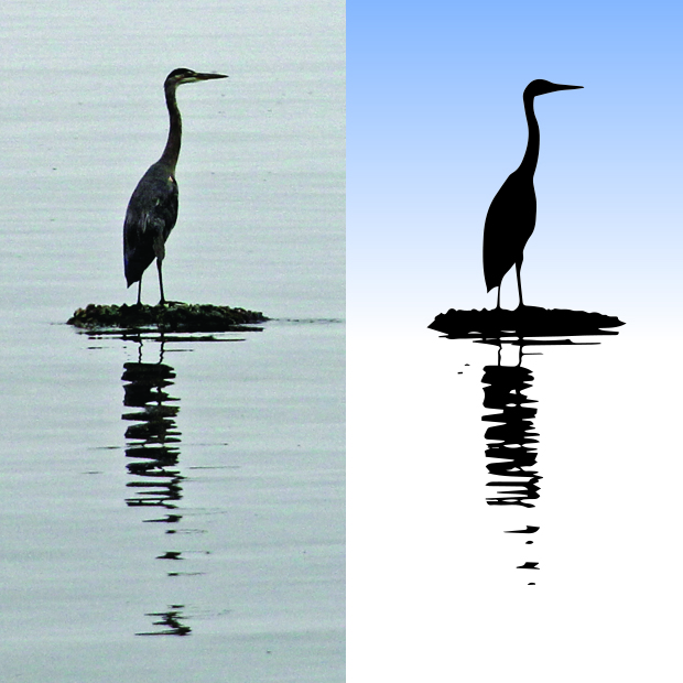 Tutorial on how to make a photo into a vector silhouette image.