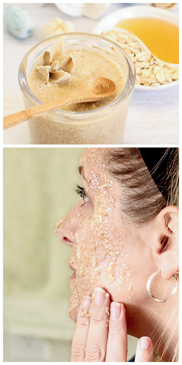 Oatmeal Honey Face Scrub - Dabbles
