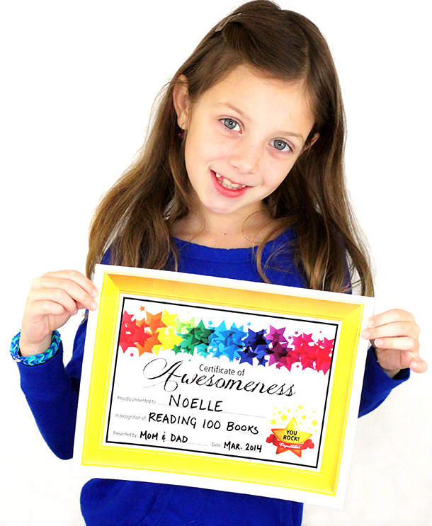 Certificate of Awesomeness - Dabbles & Babbles
