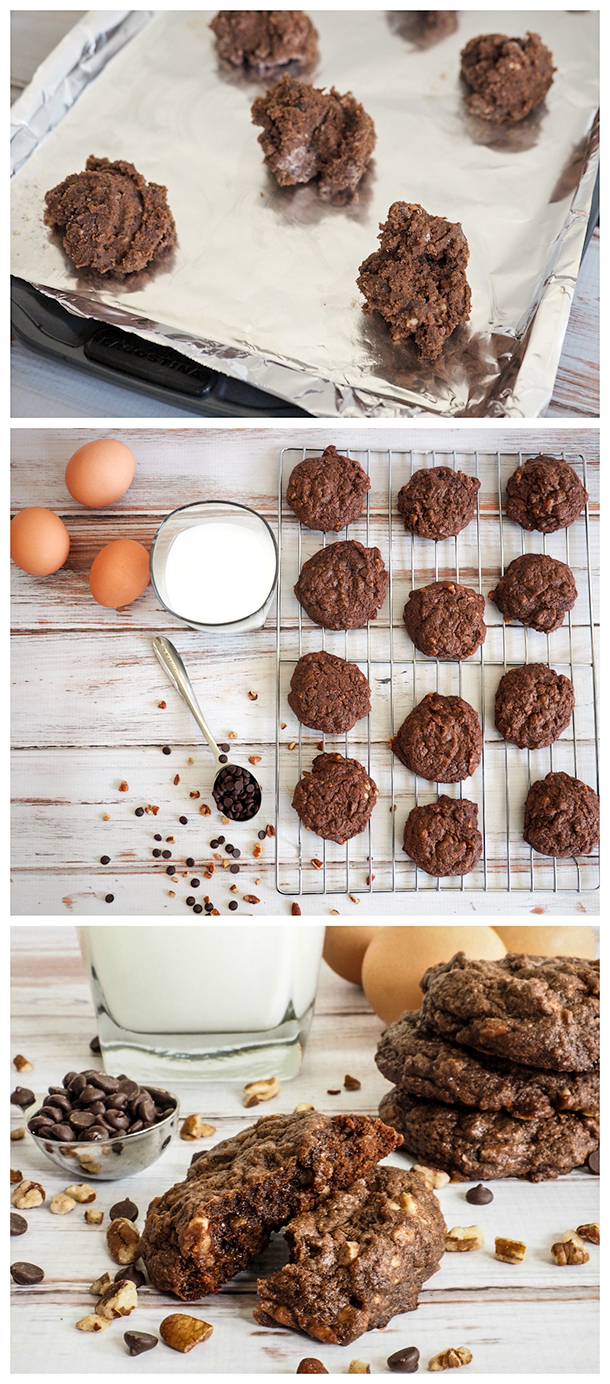 Double Chocolate Pecan Toffee Cookie