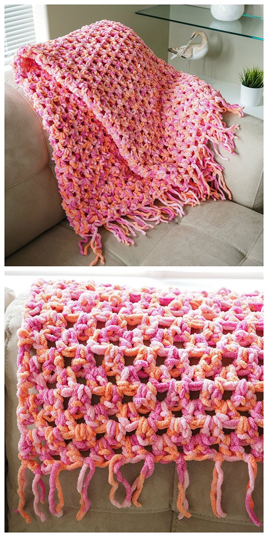 Easy Cozy Crochet Blanket - Dabbles & Babbles