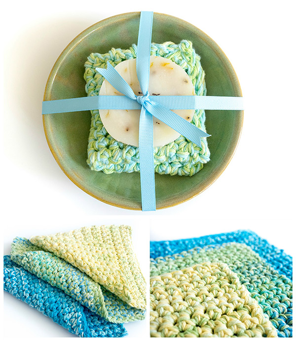 easy to make crochet dishcloth