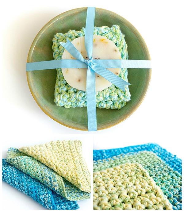 easy to make crochet dishcloth