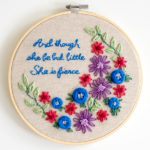 Learn How to Embroider Simple But Pretty Designs - BONUS free Embroidery pattern included!