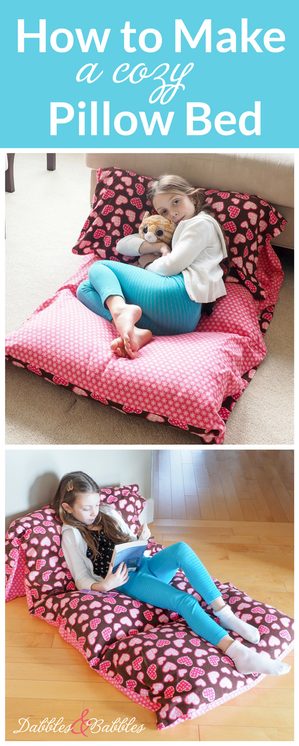 How To Make A Cozy Pillow Bed Dabbles