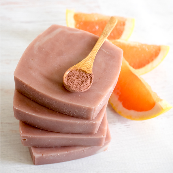Natural Pink Grapefruit and Clay Soap Recipe