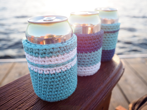 If you're going to have a few beverages, why not have a crochet can cozy around the can to prevent your hands from getting cold and wet. Learn how here.