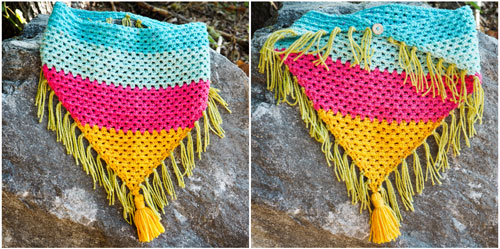 Colorful Crochet Triangle Scarf Pattern Dabbles Babbles