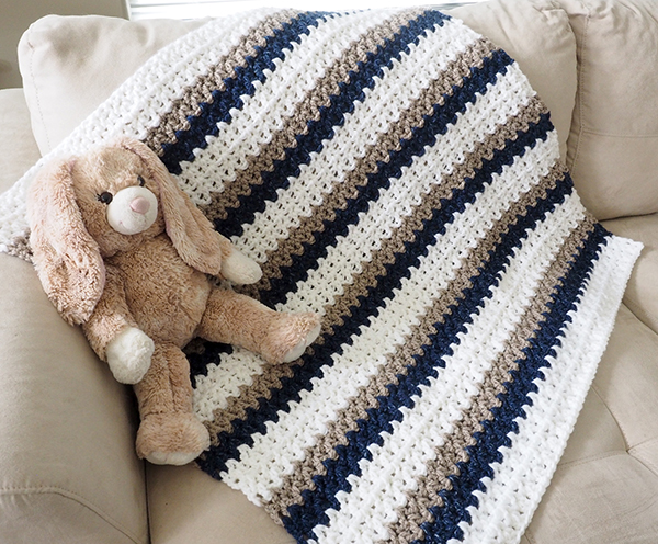 Easy Done In A Day Crochet Baby Blanket Dabbles Babbles