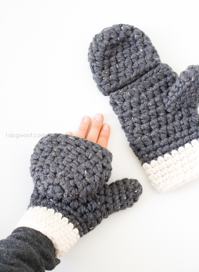 15 Easy Crochet Mitten Patterns Even Beginners Can Make - Dabbles ...