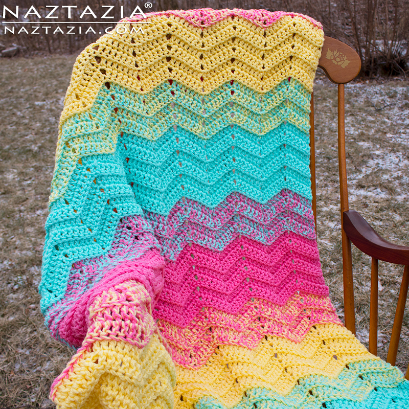 15 Easy Ripple Crochet Blanket Patterns - Dabbles & Babbles