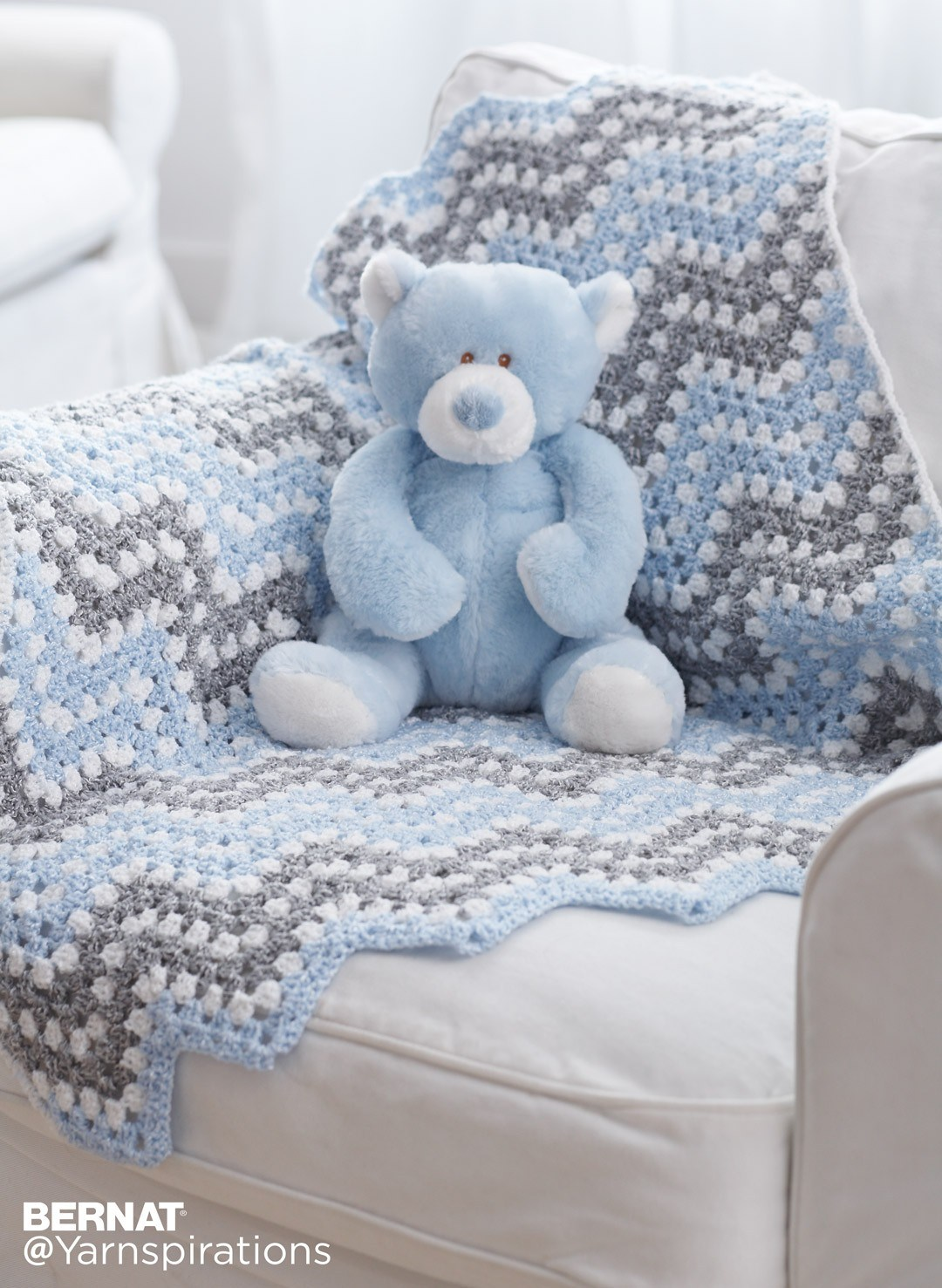 15 Easy Ripple Crochet Blanket Patterns - Dabbles & Babbles