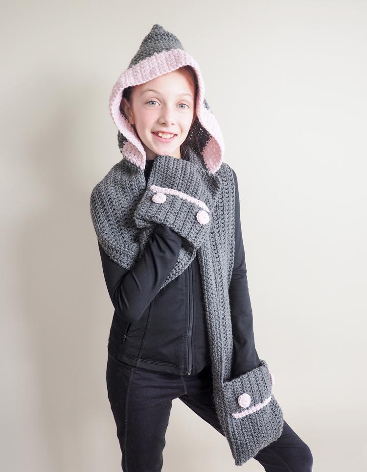 Hooded Scarf Crochet Pattern Dabbles Babbles