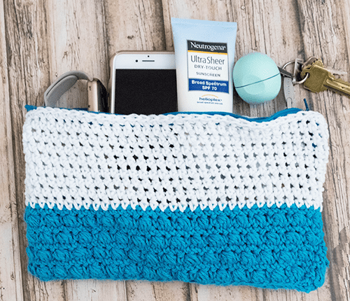 Beach Day Accessory Pouch Crochet Pattern