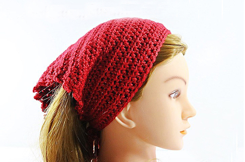 Picot Head Kerchief Crochet Pattern
