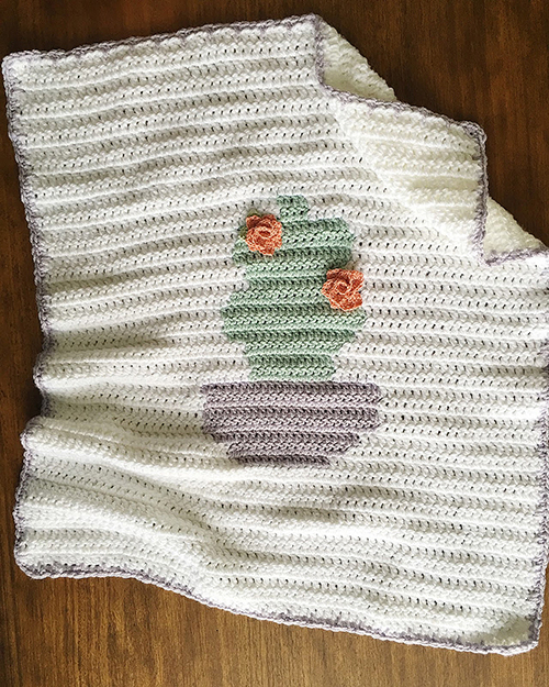Summer Cactus Blanket Crochet Pattern