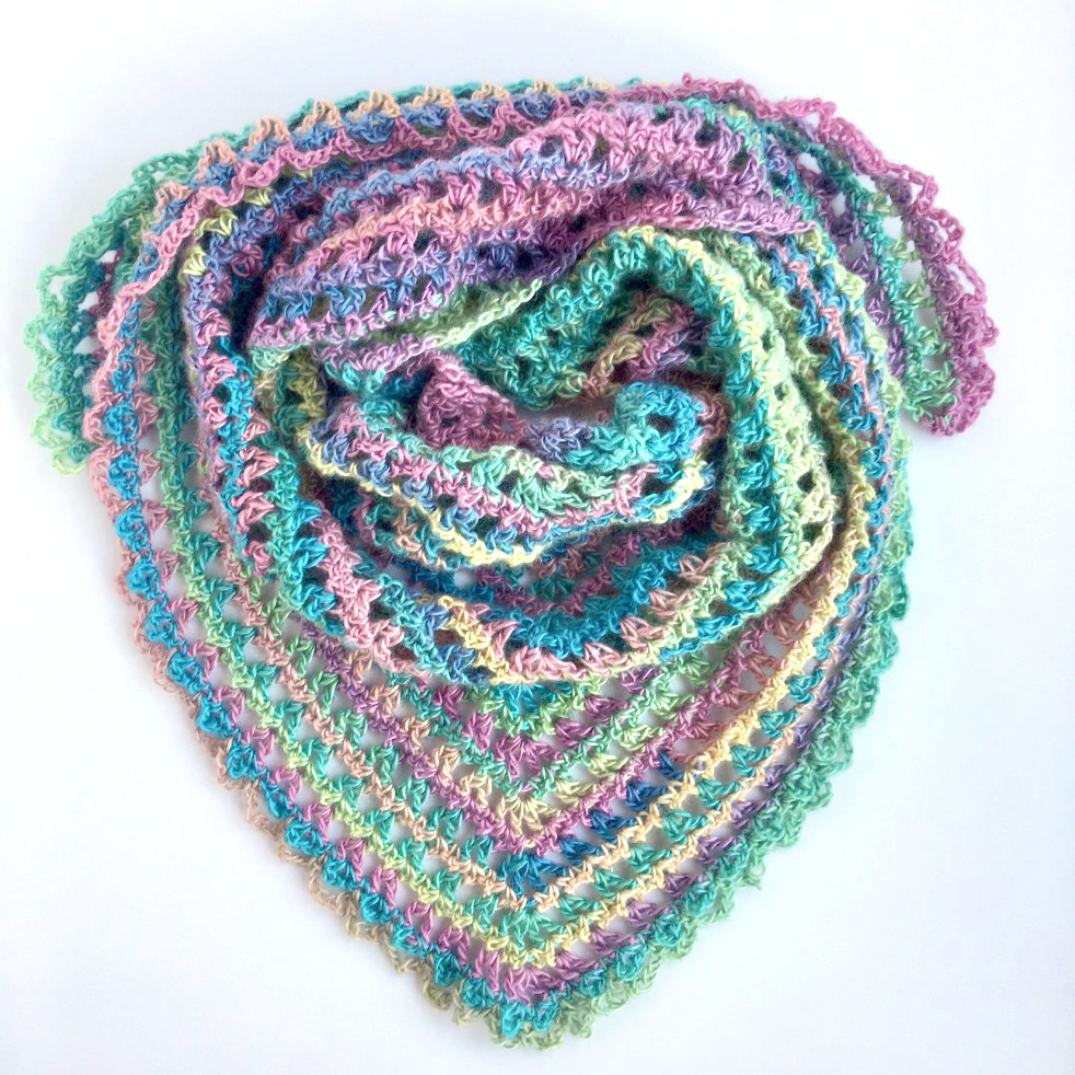 Candy Kisses Triangle Scarf