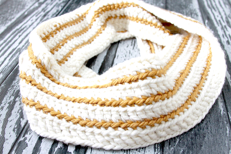 Cozy Striped Infinity Scarf
