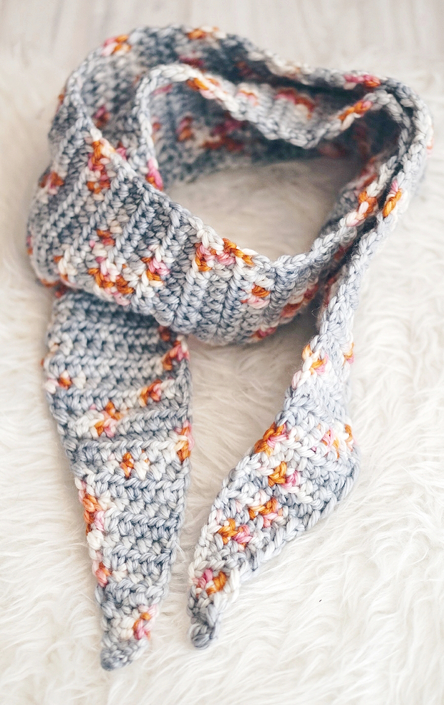 Tipped Crochet Scarf