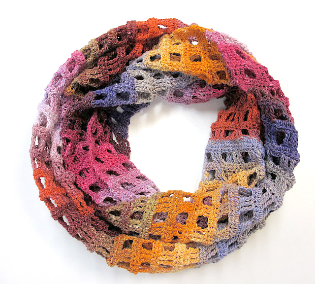 Noro Windowpane Scarf