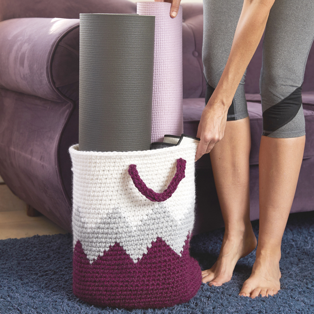 You can store lots of stuff in this creative and durable Geometric Crochet Basket. #crochetbasket #crochetpattern #crochetlove #crochetaddict