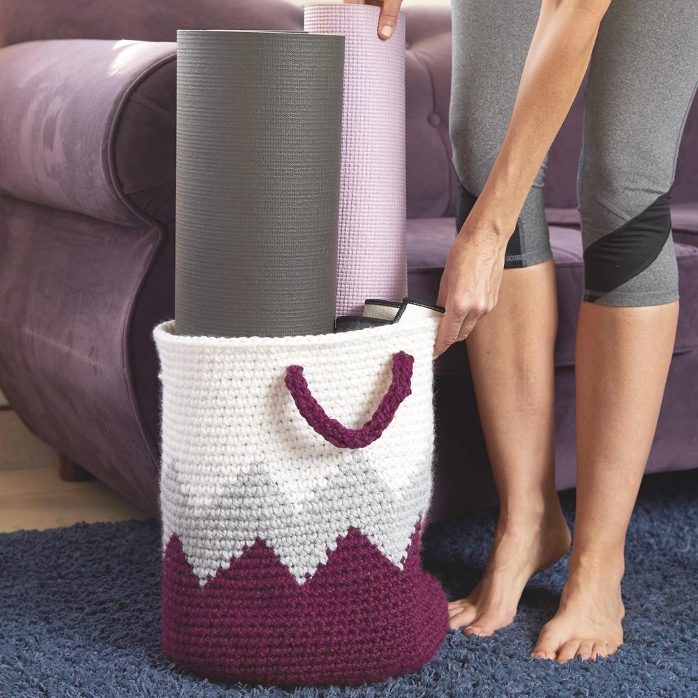 You can store lots of stuff in this creative and durable Geometric Crochet Basket. #crochetbasket #crochetpattern #crochetlove #crochetaddict