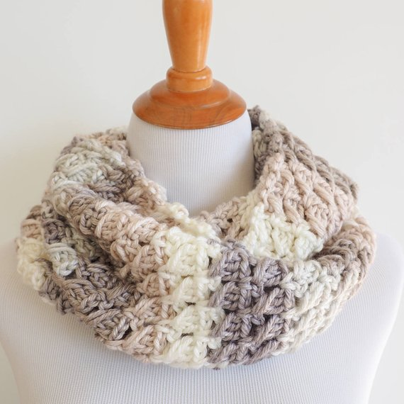 Cross-Over Stitch Infinity Scarf