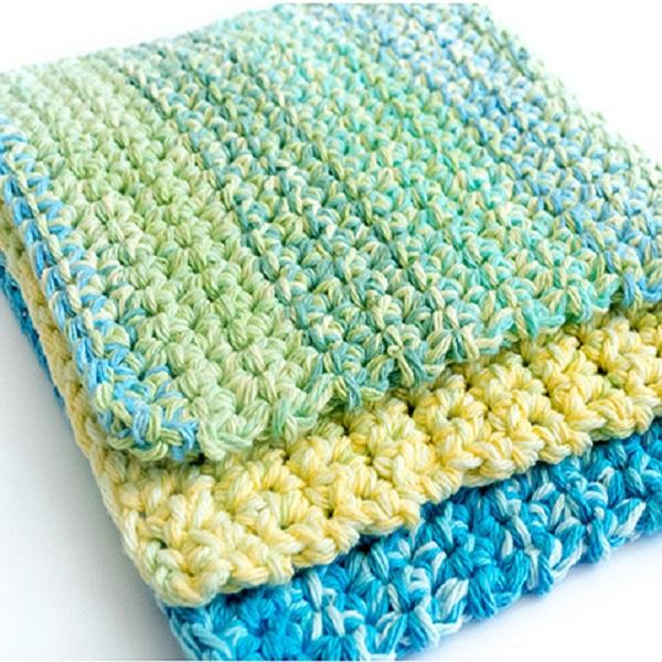 Easy Thick Crochet Wash Dishcloths