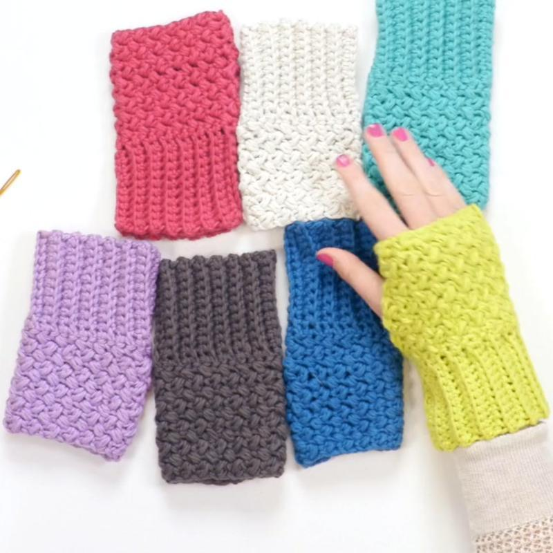 Easy Elizabeth Stitch Fingerless Gloves