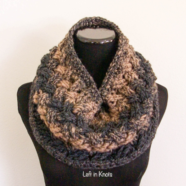 Celtic Winters Cowl - 19 Easy Winter Crochet Cowls to Keep You Warm - here's a list of the coziest, stylish crochet cowls and infinity scarf crochet patterns to wear this season. #crochetcowl #crochetpattern #crochetinfinityscarf #cozycrochet