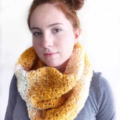 Scarfie Crocheted Mixed Cluster Stitch Cowl - 19 Easy Winter Crochet Cowls to Keep You Warm - here's a list of the coziest, stylish crochet cowls and infinity scarf crochet patterns to wear this season. #crochetcowl #crochetpattern #crochetinfinityscarf #cozycrochet