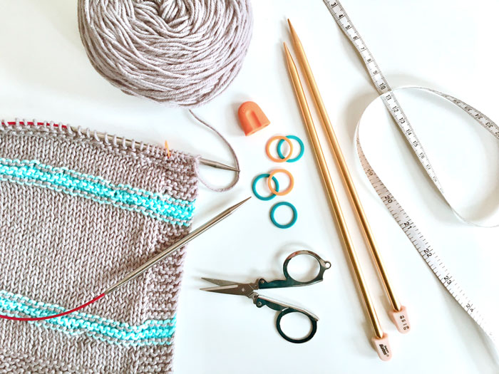 Knitting Tools Crochet and knitting are crafts that use knitting yarn and stitchwork to create garments and other projects. And both methods have loads of benefits. #crochet #knitting #knittingvscrochet