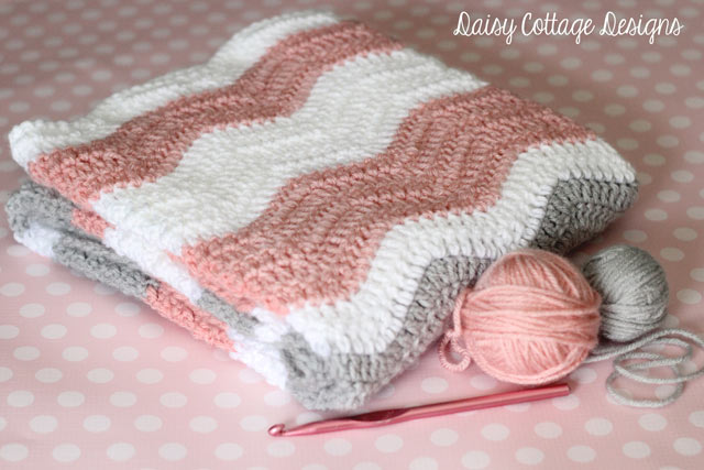 Crocheted shell stitch rose blush colored baby afghan or lap robe