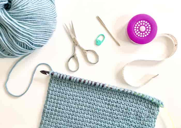 Tunsian crochet tools. Crochet and knitting are crafts that use knitting yarn and stitchwork to create garments and other projects. And both methods have loads of benefits. #crochet #knitting #knittingvscrochet