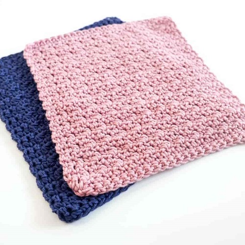 Crochet Washcloth Set - Crochet and knitting are crafts that use knitting yarn and stitchwork to create garments and other projects. And both methods have loads of benefits. #crochet #knitting #knittingvscrochet